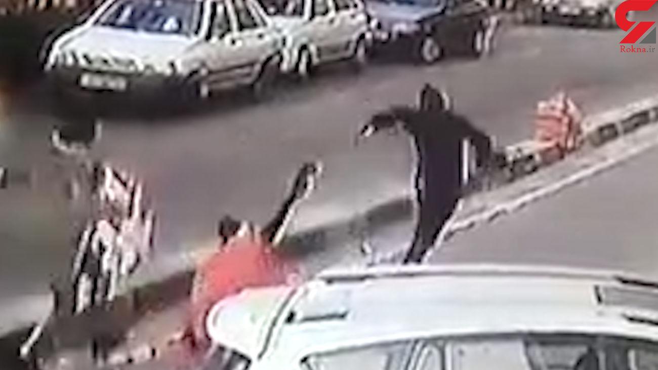 فیلم لحظه حمله به زن تهرانی در قیطریه ! + جزییات