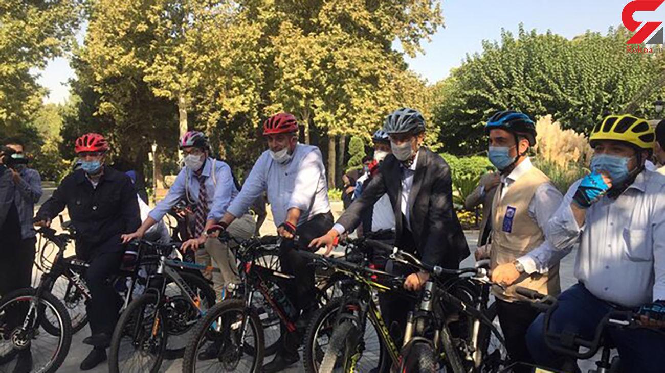 رکابزنی شهردار تهران با سفرای ۴ کشور اروپایی تا موزه صلح