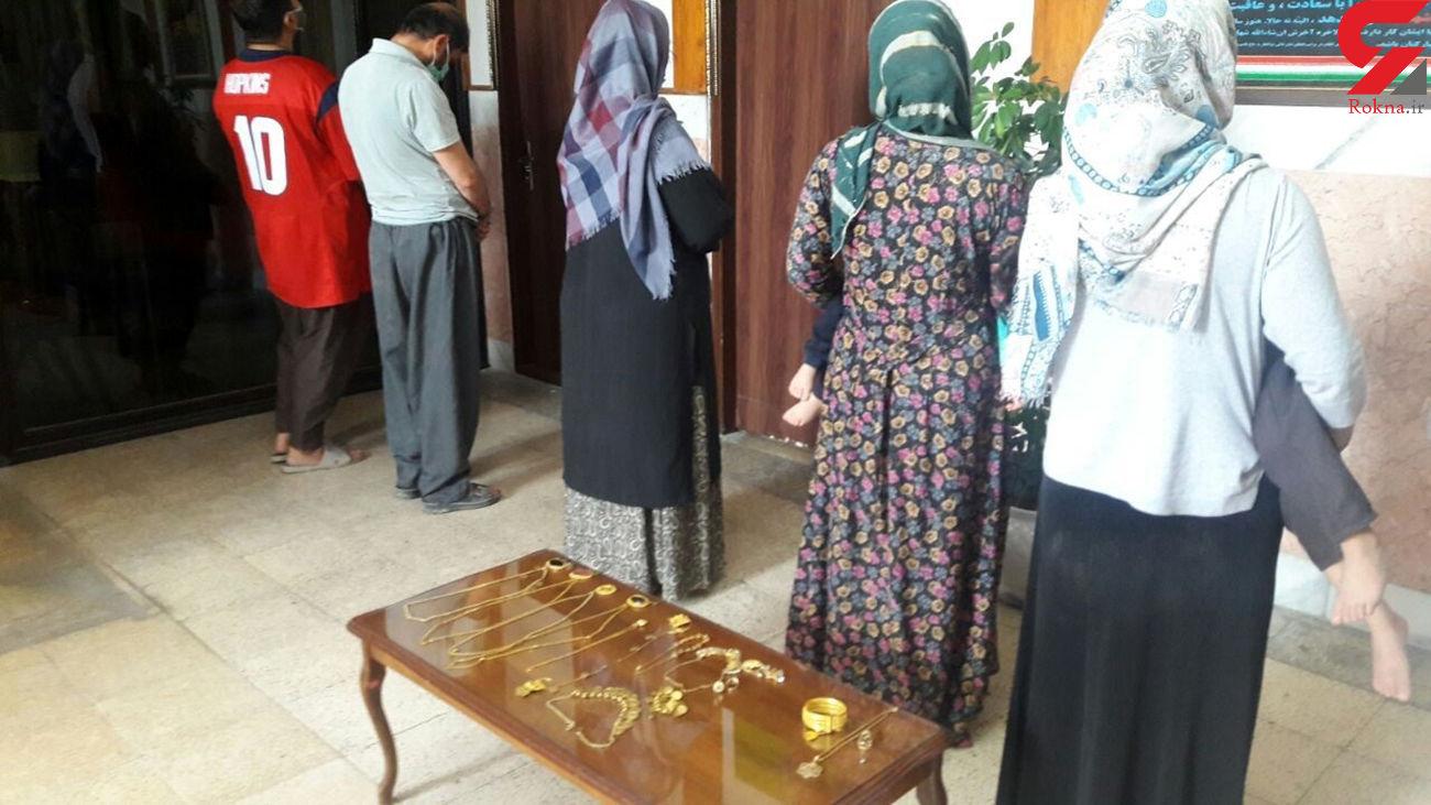 گدایان بوکانی دزدان طلا بودند / بازداشت 3 زن و 3 کودک + عکس