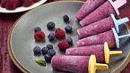 دستور تهیه بستنی یخی رنگین کمانی با پاستیل در تابستان