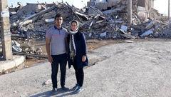 این مرد در زلزله کرمانشاه زن باردار را از زیر خاک بیرون کشید + گفتگوی جذاب و عکس
