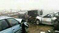 تصادف زنجیرهای در شیراز با 9 مصدوم