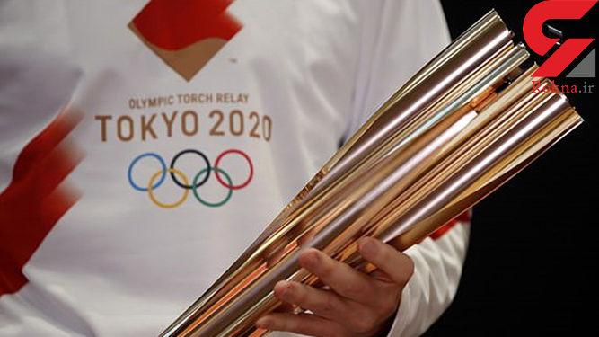 حمل مشعل المپیک توکیو با ماشین