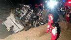 واژگونی اتوبوس در گچساران ۱۲ مصدوم بر جای گذاشت