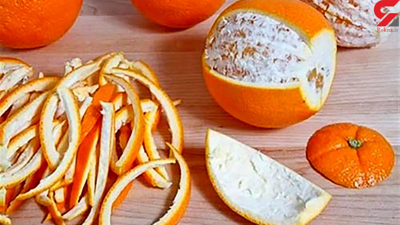 با پوست پرتقال دندان تان را برق بیندازید