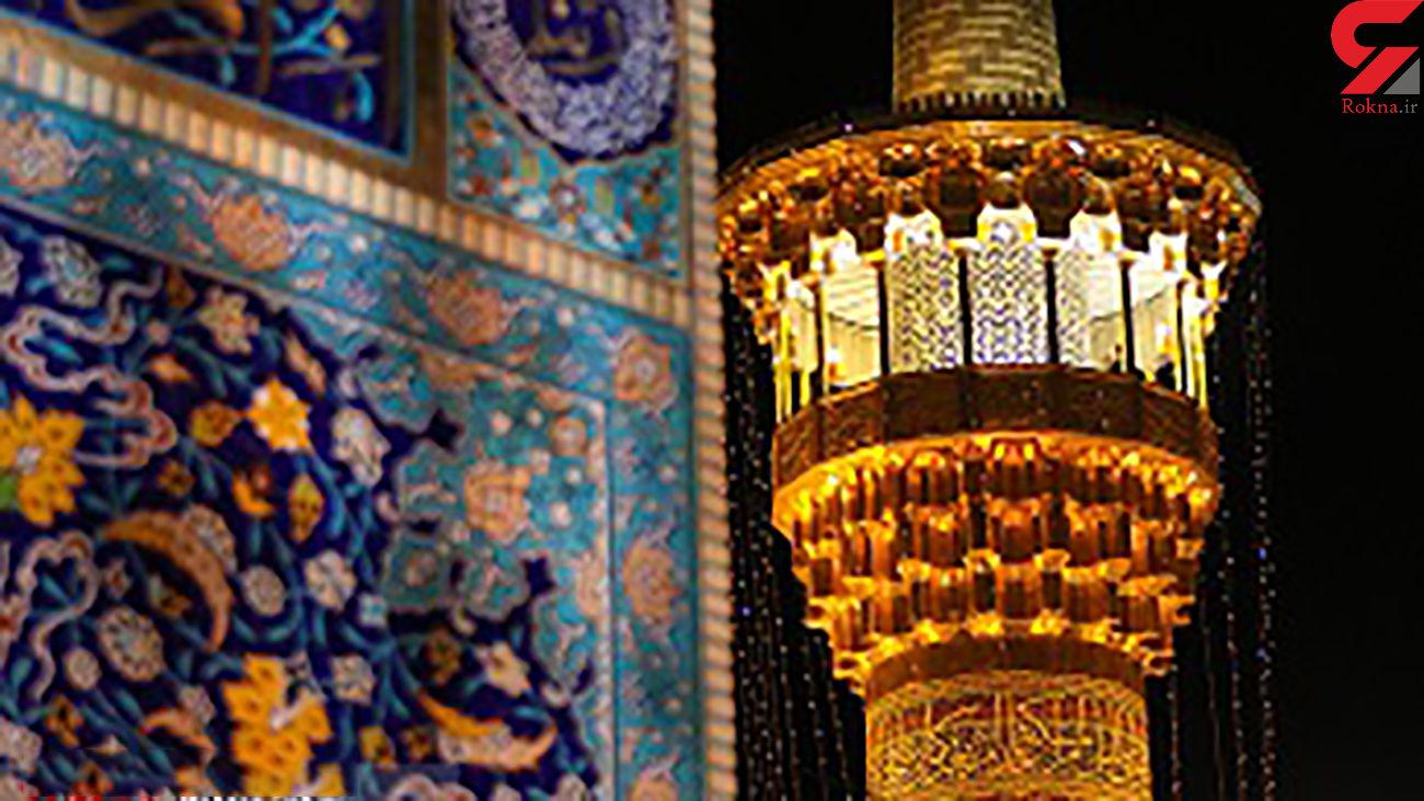 نورآرایی ویژه حرم حضرت «شمس الشموس(ع)»