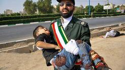 تلخ ترین تصویر  از کودک خونین در حادثه اهواز+ فیلم ها