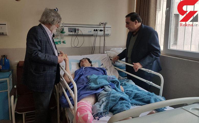 آخرین خبر از وضعیت احمدرضا دالوند /رئیس انجمن خیریه دیابت ایران به دیدار وی رفت + فیلم