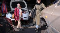 کار عجیب کیانا و نیلوفر 2 دختر تهرانی در یک مکانیکی + تصاویر