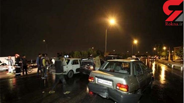 3 کشته و 7 زخمی در تصادف زنجیره ای سنندج