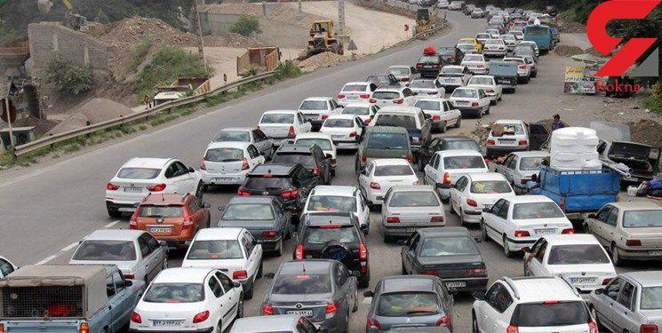 ترافیک سنگین در برخی جادههای کشور/۹ جاده مسدود است