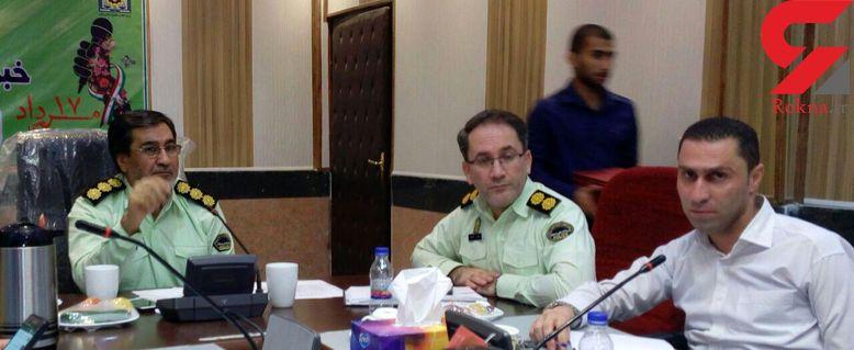 قدردانی رئیس پلیس آبادان ازنماینده پایگاه اطلاع رسانی رکنا در استان خوزستان+ تصاویر