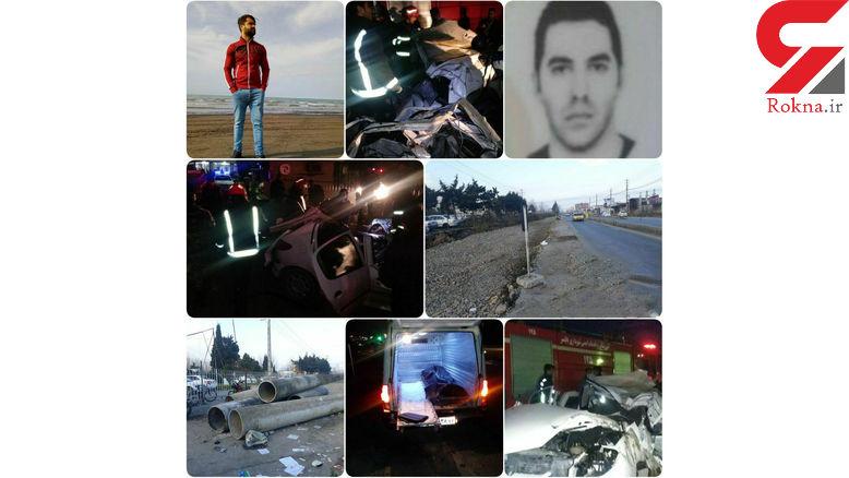 مرگ ۲ جوان در سانحه شدید بامدادی در بابلسر + عکس
