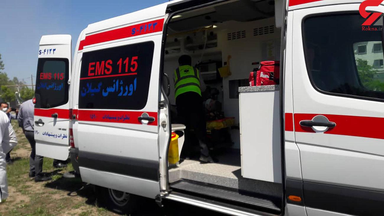 مصدومیت 7 نفر در تصادف رانندگی / در گیلان رخ داد