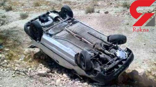 واژگونی تیبا در جاده مشهد - تربت حیدریه