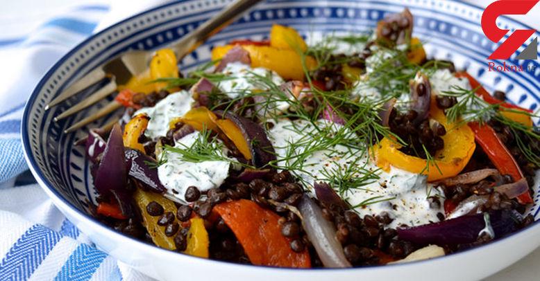 سبزیجات کبابی غذای فوری لاغرها