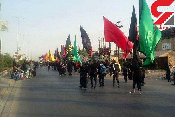 نقالی هنرمند یزدی در پیاده روی اربعین