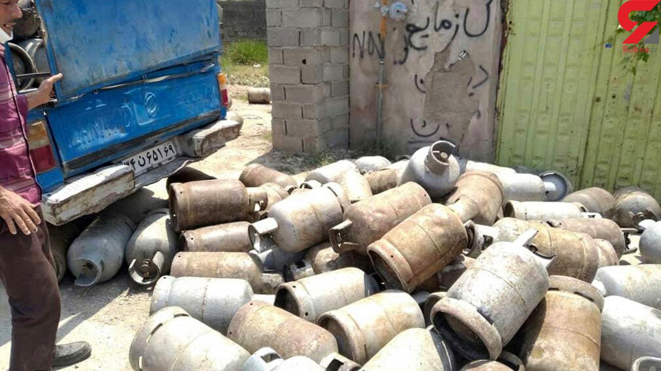 فروش غیرمجاز گاز مایع در کلاله