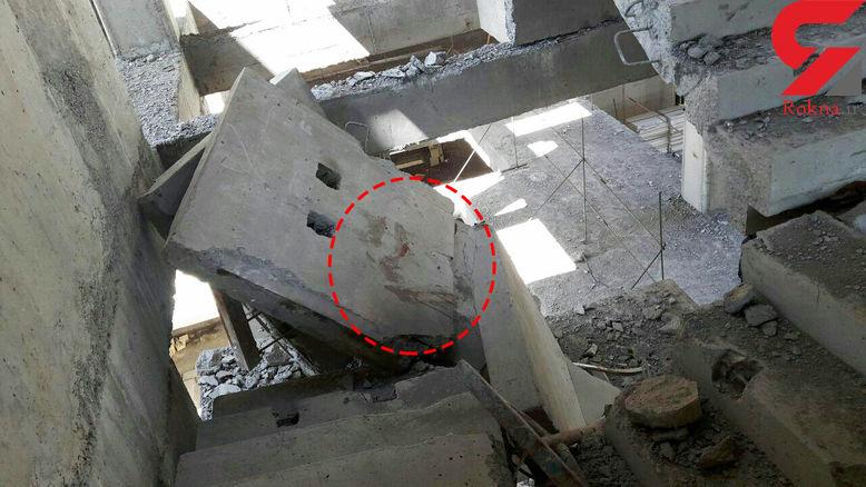 جزییات سقوط مرگبار مردی  از ساختمان نیمه کاره+عکس
