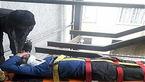 سقوط یک کارگر از طبقه چهارم ساختمان اداری