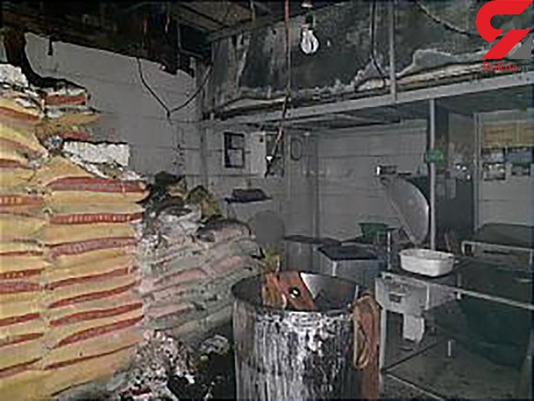 آتش سوزی هولناک نانوایی در بلوار فردوس