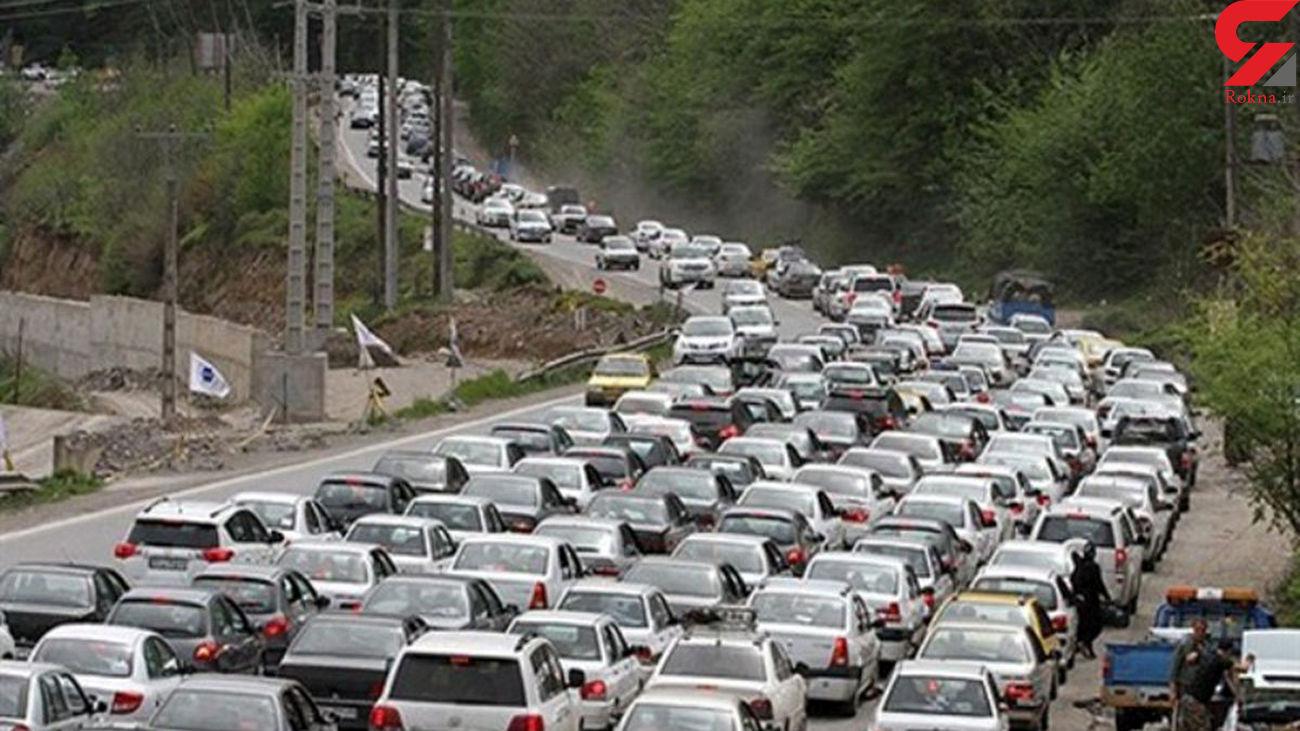 ترافیک نیمه سنگین در ۳ جاده منتهی به شمال