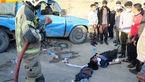 عکس ناراحت کننده / پرتاب شدن 11 مرد در تصادف 2 خودرو داخل تهران