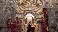 آیین مذهبی ارامنه در «قره کلیسا» برگزار شد