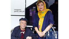 خانم بازیگر  ایرانی در کنار همسر بیمارش +عکس