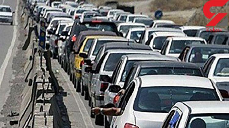 ترافیک در محور هراز هنوز سنگین است