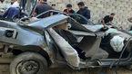 2 کشته در سقوط وحشتناک پژو از روی پل شیبان اهواز + عکس پژو له شده