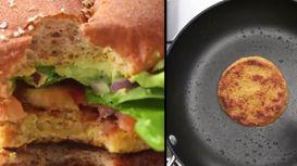 خوشمزه روز: طرز تهیه همبرگر بدون گوشت + فیلم