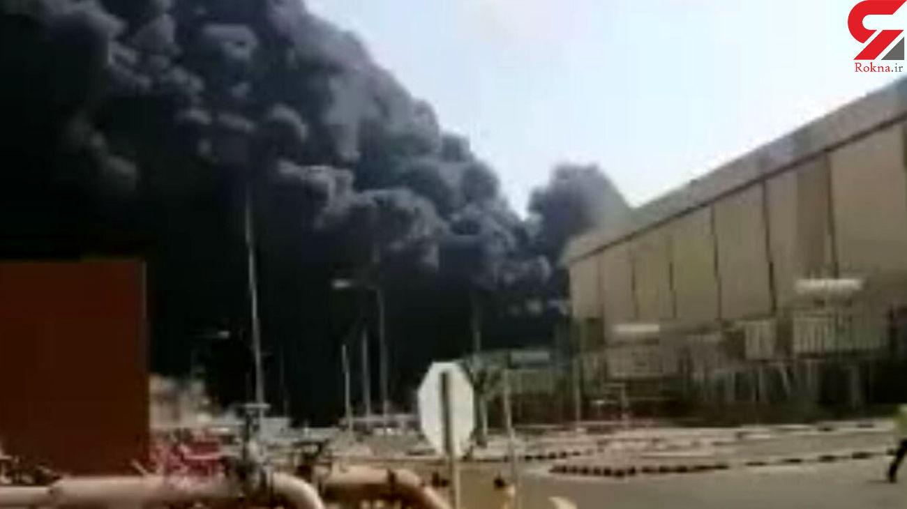 فیلم آتش سوزی بزرگ  در نیروگاه برق عربستان