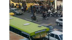 اتوبوس شهری در خیابان مطهری وارد مغازه شد + عکس