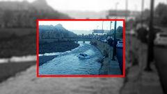 سقوط سوزوکی به داخل رودخانه خرم آباد+ عکس