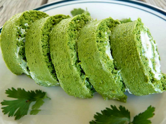 رولت کوکو سبزی؛ هم خوشرنگ هم خوش طعم