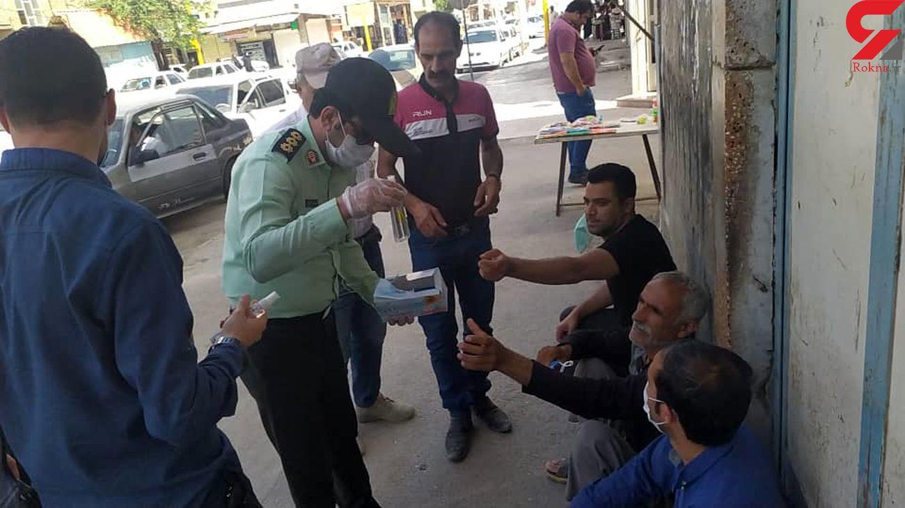 توزیع ماسک و الکل رایگان به مناسبت روز کارگر در آبادان + عکس و فیلم