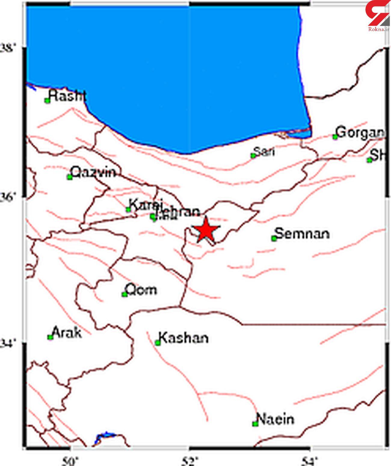 زلزله در دماوند تهران / لحظاتی پیش رخ داد + محل دقیق زلزله