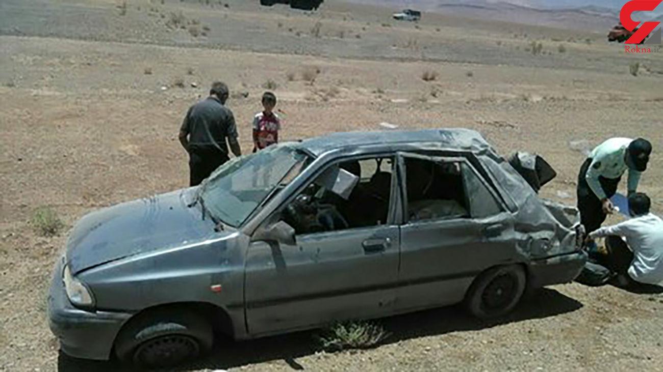 عکس / جوان مرگ شدن راننده اصفهانی در تصادف