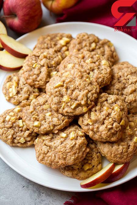 کلوچه سیب و جودوسر دارچینی یک دسر خوشمزه + دستور تهیه