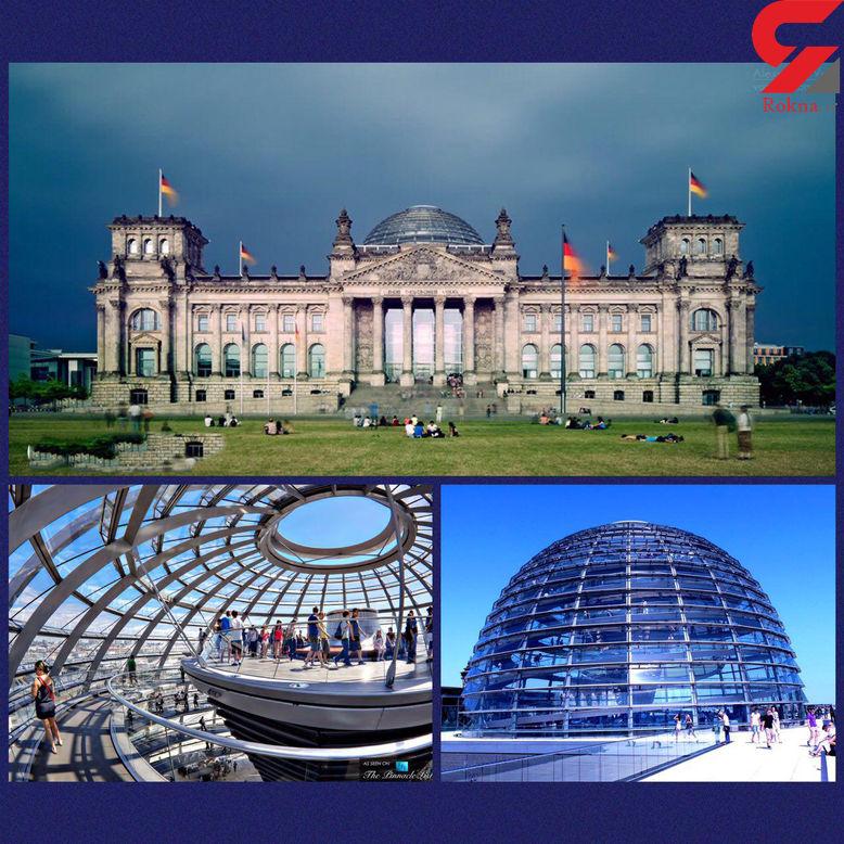 آلمانی ها روی سقف شیشه پارلمان + عکس