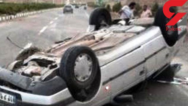 واژگونی پژو با 2 کشته در خان زنیان