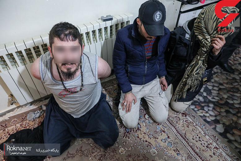 زن و شوهر مورددار با پلیس به دیدن مرد مخوف رفتند / پلیس تهران شبانه فاش کرد + عکس