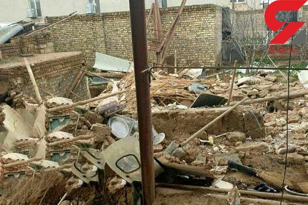 این مرد زیر آوار ساختمان زنده به گور شد / در قزوین رخ داد