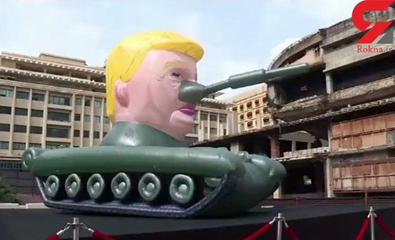 رونمایی از تانک ترامپ در بیروت + عکس