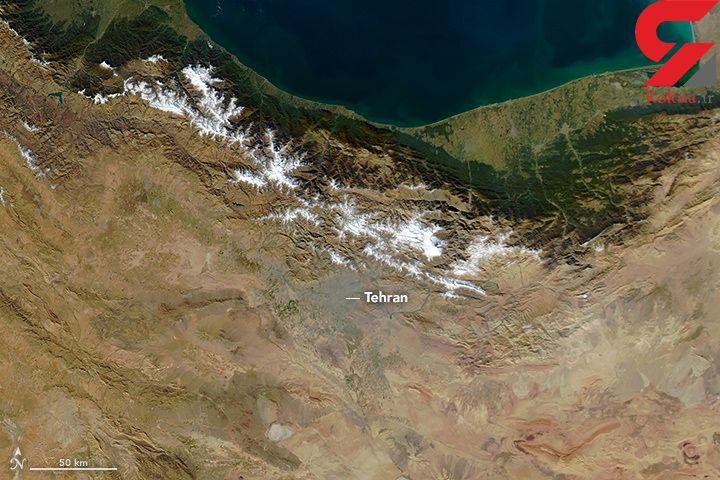 عکس هوایی ناسا از آلودگی شدید هوا در تهران