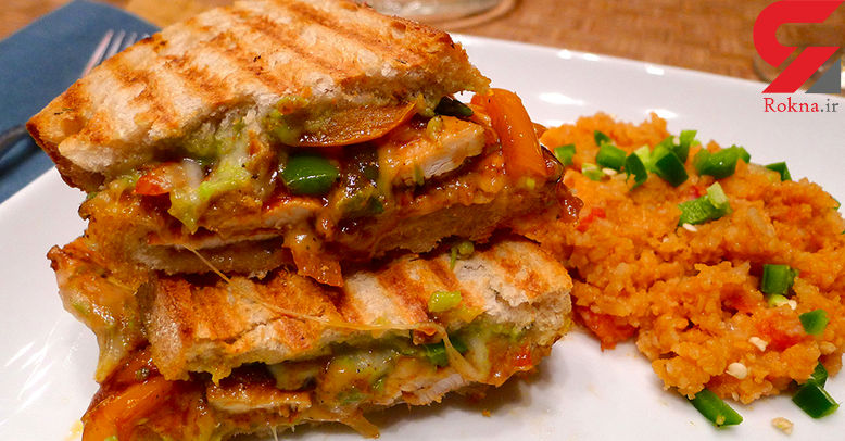 ساندویچ مرغ مکزیکی یک ساندویچ متنوع+دستور تهیه در خانه
