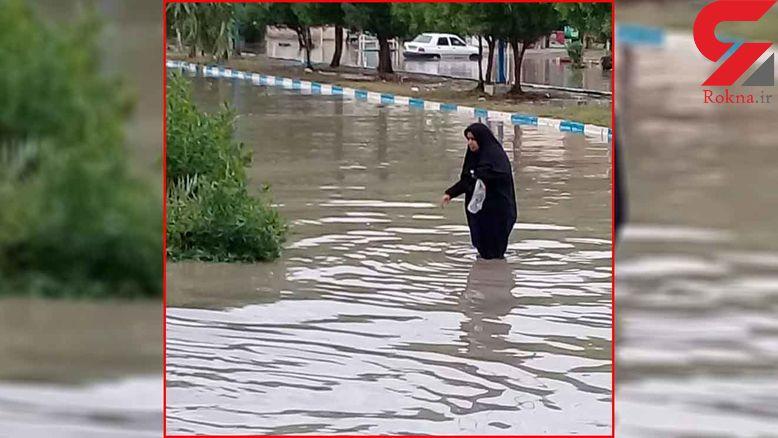آبادان زیر آب رفت ! + عکس و فیلم