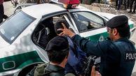 قاتل فراری بالای تیر برق بود که پلیس کرمانشاه سر رسید