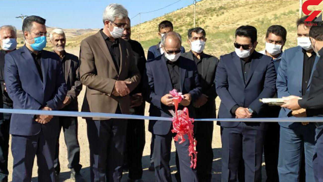 افتتاح جاده دسترسی بین مزارع روستای تلم خان و آسایش